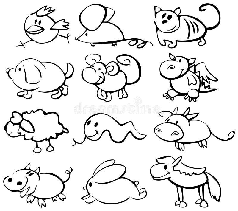 zwierzę horoskop śliczny śmieszny ilustracja wektor