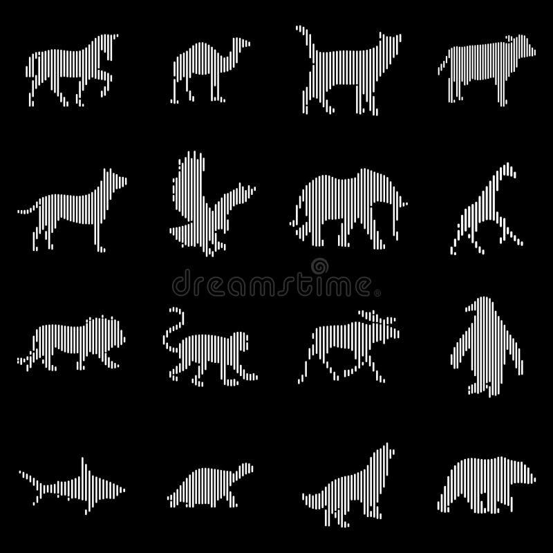 Zwierzę ikon Cyfrowa Kreskowa sztuka obraz stock