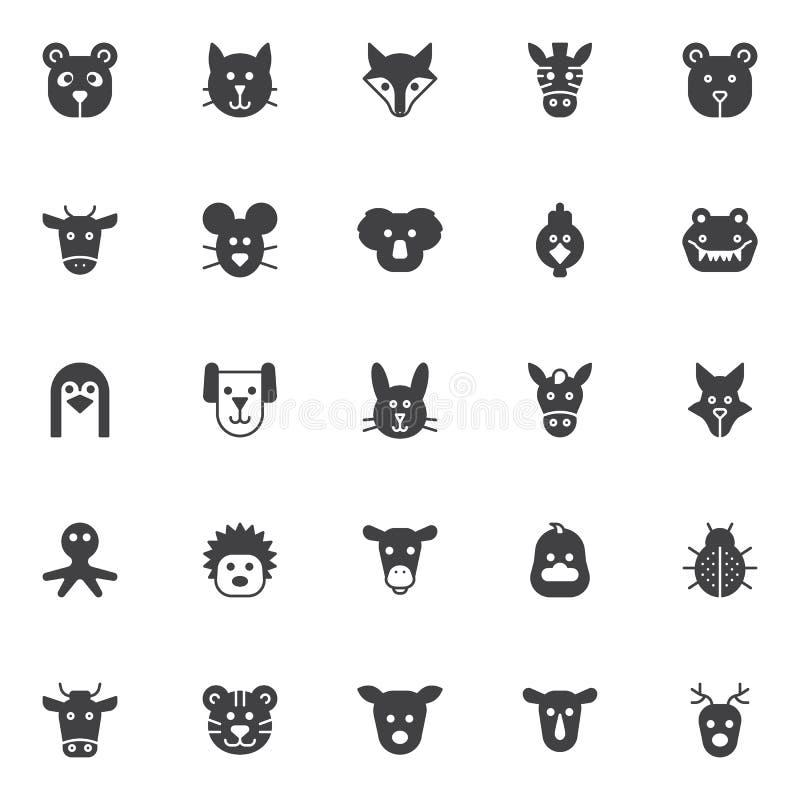 zwierzę ikony ustawiają wektor ilustracja wektor