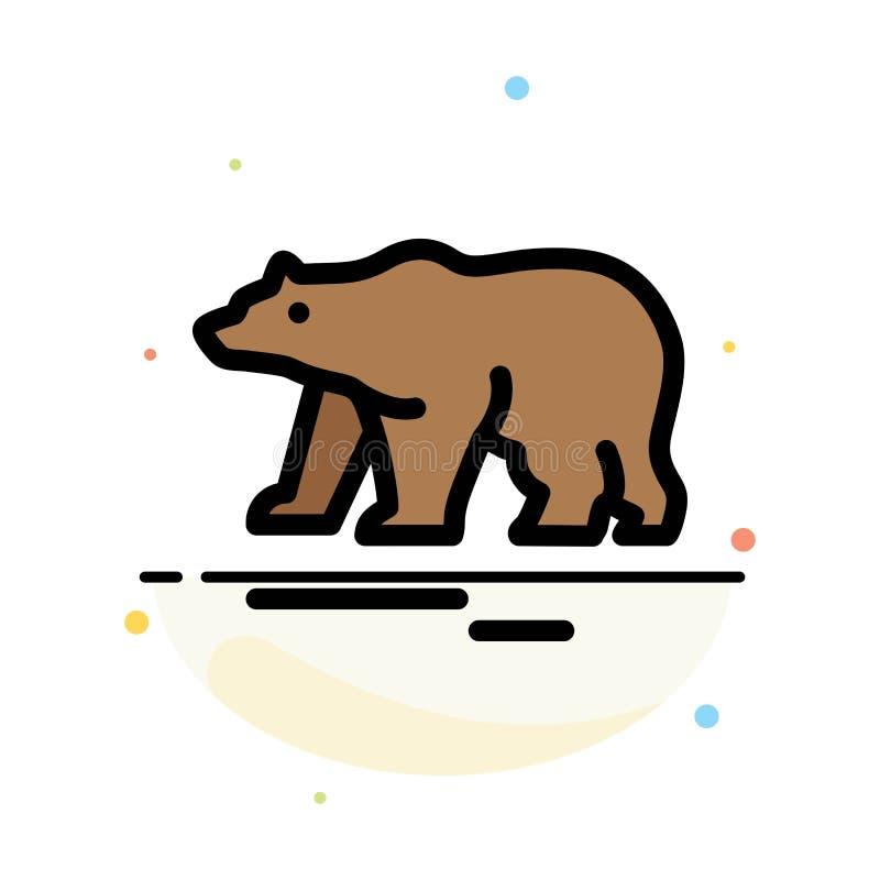 Zwierzę, niedźwiedź, Biegunowy, Kanada koloru ikony Abstrakcjonistyczny Płaski szablon royalty ilustracja