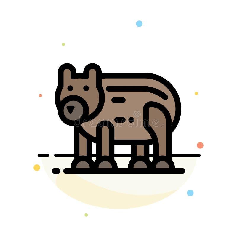 Zwierzę, niedźwiedź, Biegunowy, Kanada koloru ikony Abstrakcjonistyczny Płaski szablon ilustracja wektor