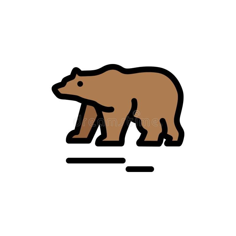 Zwierzę, niedźwiedź, Biegunowy, Kanada koloru Płaska ikona Wektorowy ikona sztandaru szablon ilustracji