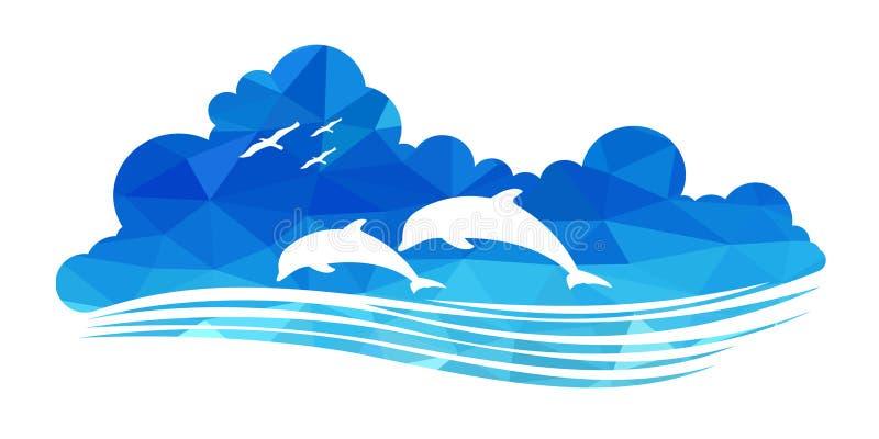 Zwierzę przyroda (delfiny) ilustracji