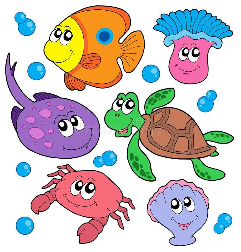 zwierzę słodkie zbierania marine ilustracja wektor