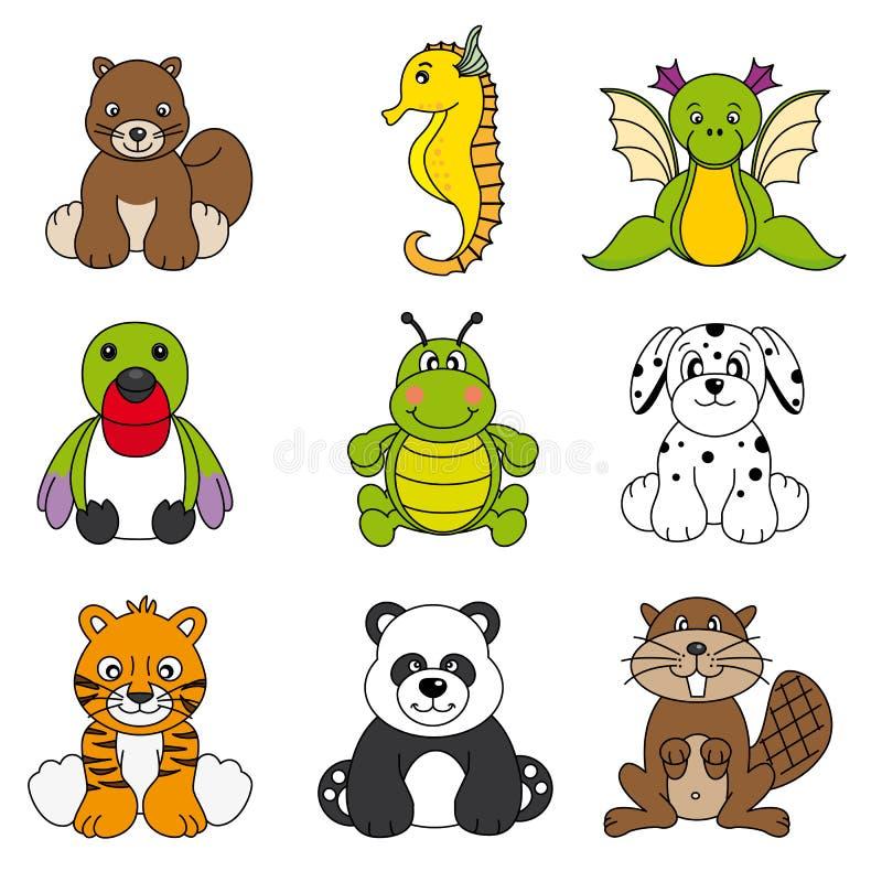 zwierzę set śliczny różny ilustracja wektor