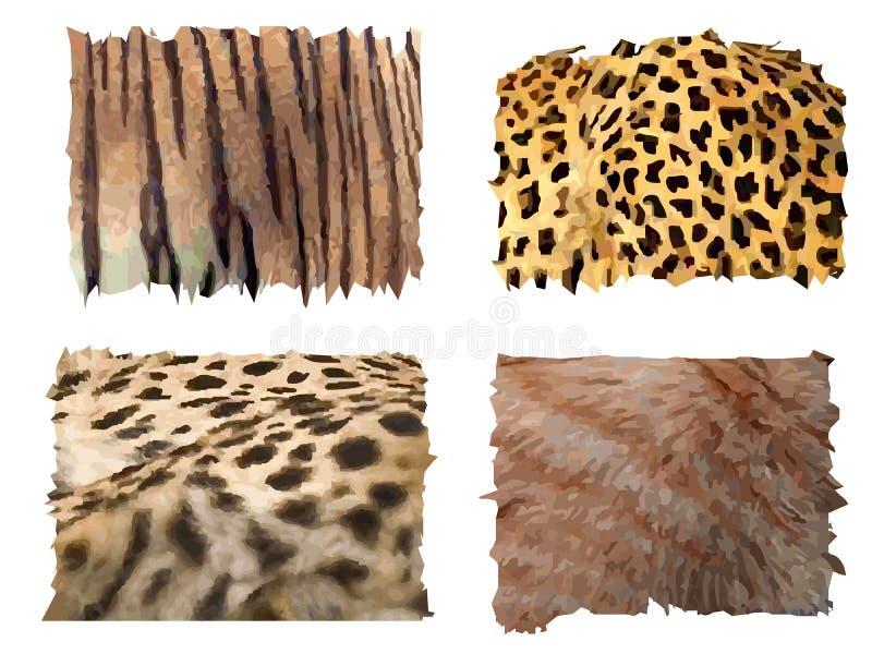 zwierzę wzory koci futerkowi royalty ilustracja