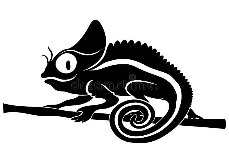 Zwierzę znak. Kameleon. royalty ilustracja