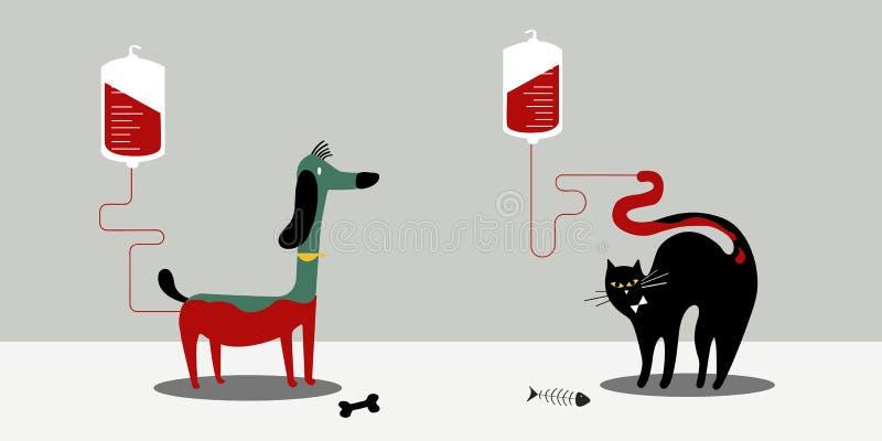 Zwierzęca krwionośnej darowizny wektoru ilustracja ilustracja wektor