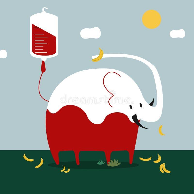 Zwierzęca krwionośnej darowizny wektoru ilustracja royalty ilustracja