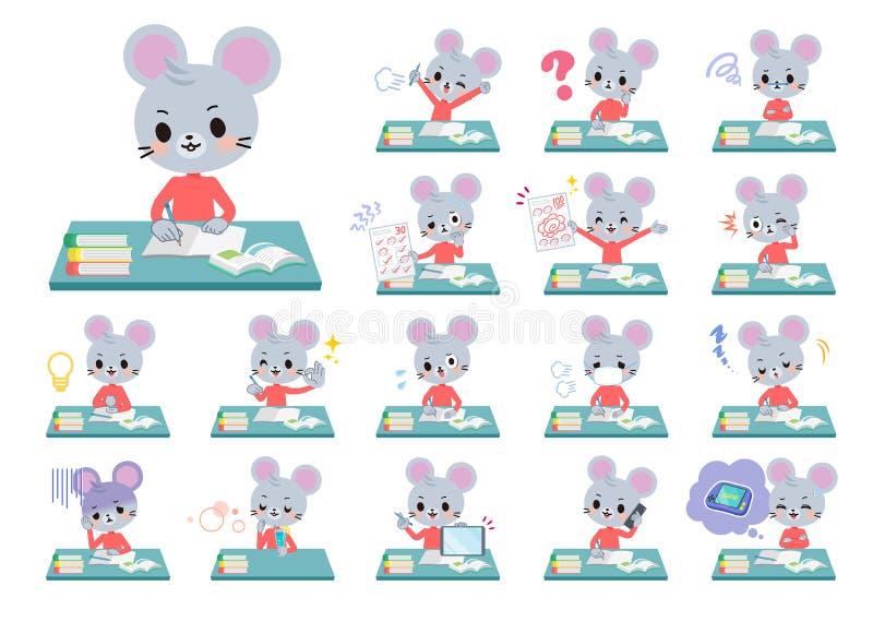 Zwierzęca mysz boy_study ilustracji