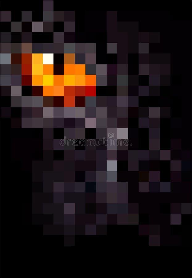 Zwierzęca piksel sztuka Oko pantera piksla ilustracja royalty ilustracja