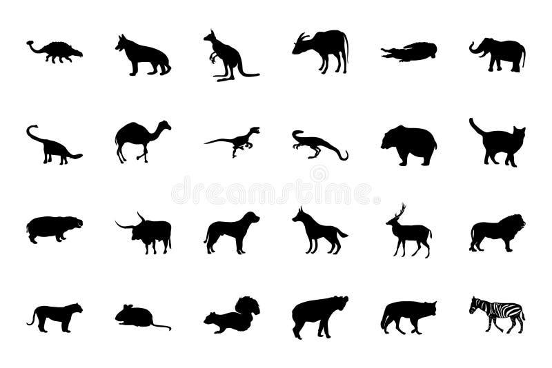 Zwierzęce Wektorowe ikony 2 ilustracji