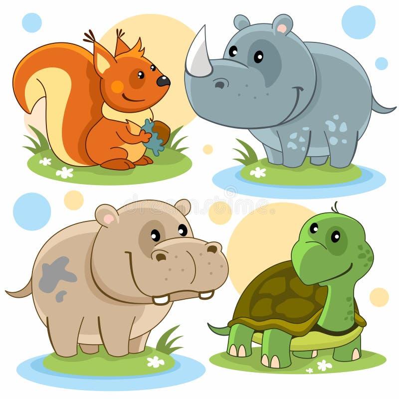 Zwierzęcia część 2 royalty ilustracja
