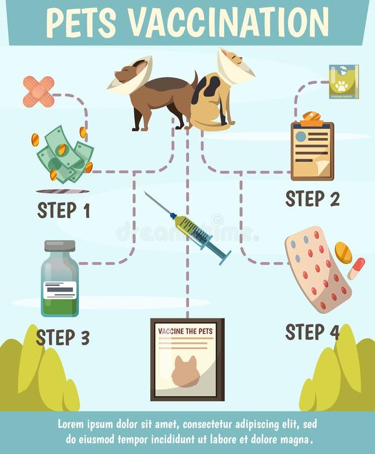 Zwierzęcia domowego Obowiązkowego szczepienia Ortogonalny Flowchart ilustracja wektor