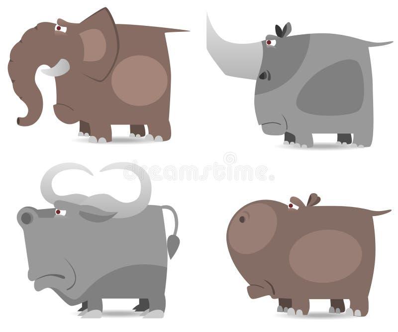 zwierzęcia dziki duży ustalony royalty ilustracja