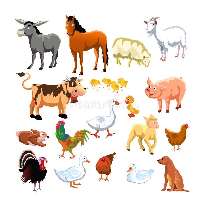 zwierzęcia gospodarstwo rolne royalty ilustracja