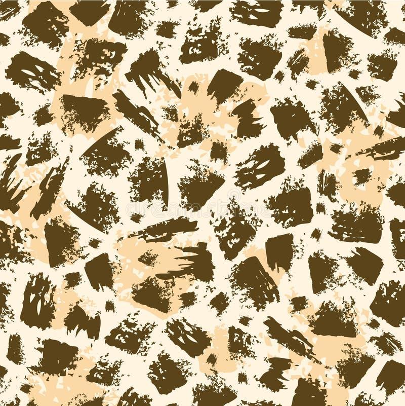 Zwierzęcia muśnięcia uderzenia bezszwowy deseniowy tło ilustracji