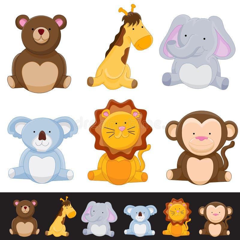 zwierzęcy śliczny set ilustracji