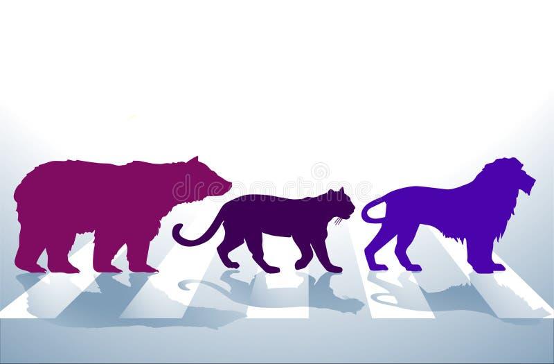 zwierzęcy crosswalk ilustracja wektor