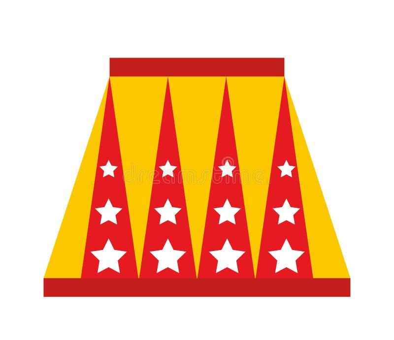 zwierzęcy cyrkowy podium odizolowywający ikona projekt royalty ilustracja