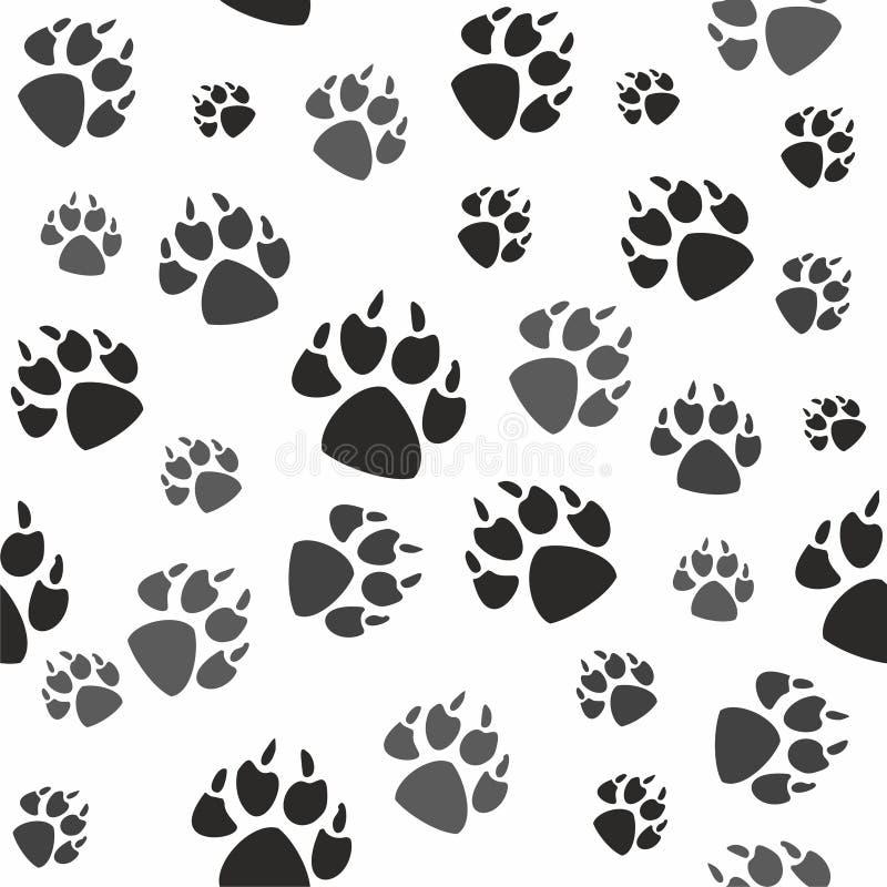 Zwierzęcy czerń foots i przyroda ilustracji
