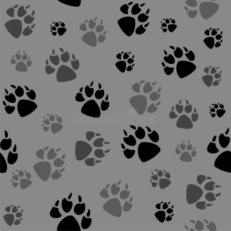 Zwierzęcy czerń foots i przyroda ilustracja wektor
