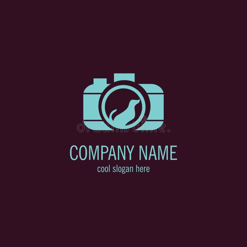 Zwierzęcy kamera logo royalty ilustracja