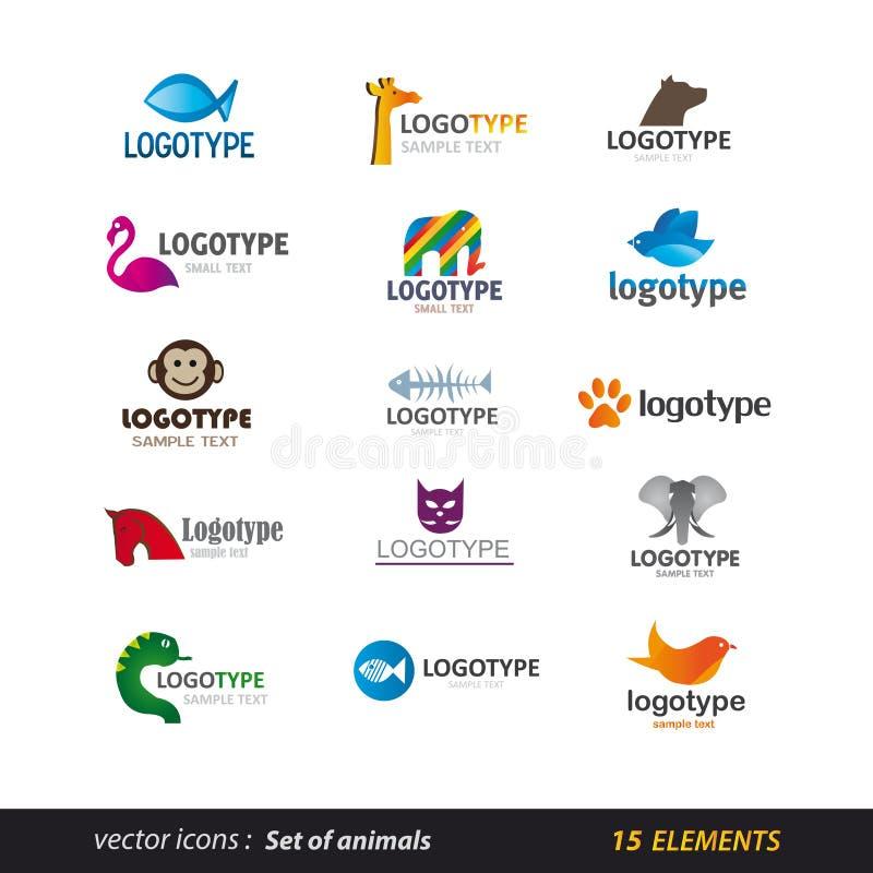 Zwierzęcy loga set