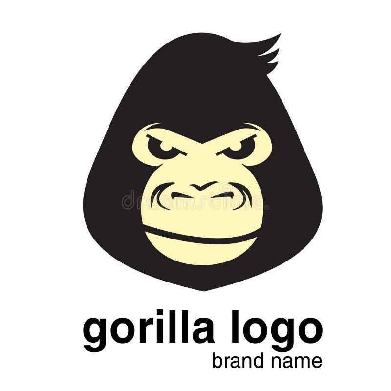Zwierzęcy logo goryla logo Małpa royalty ilustracja
