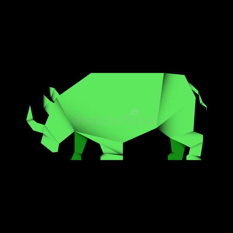 zwierzęcy nosorożec origami styl zdjęcia stock