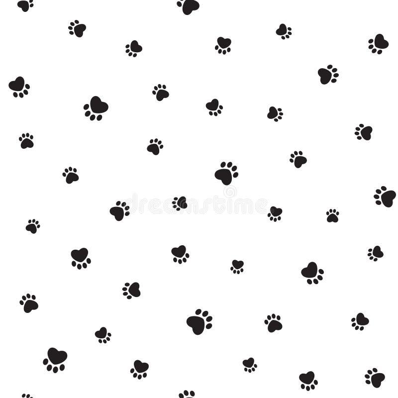 Zwierzęcy odcisku stopy tło royalty ilustracja