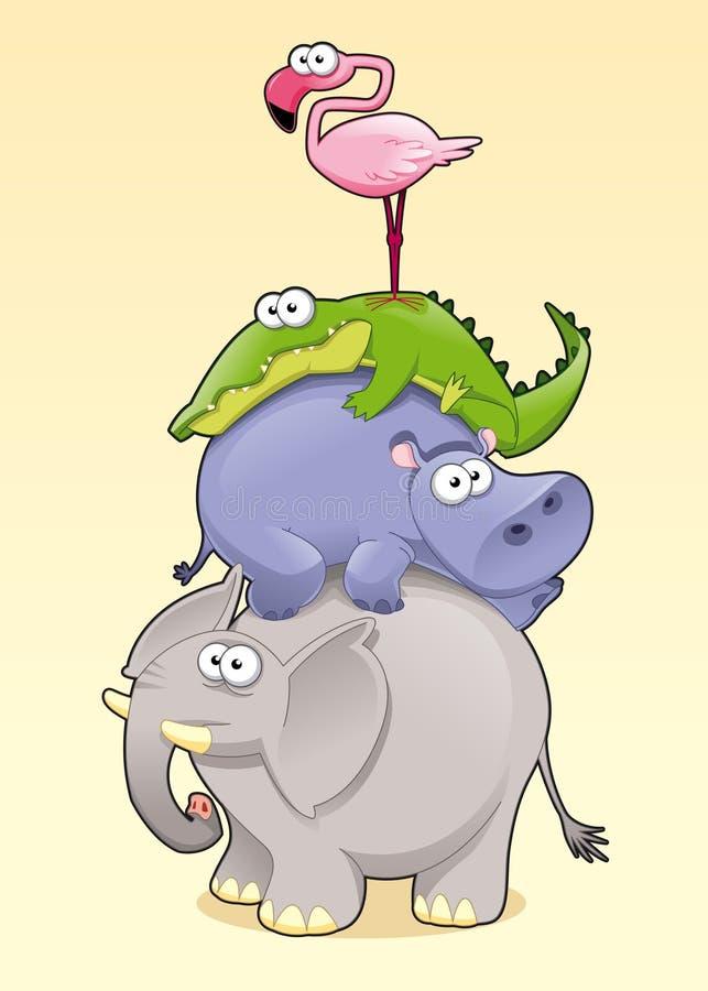 zwierzęcy ostrosłup ilustracja wektor
