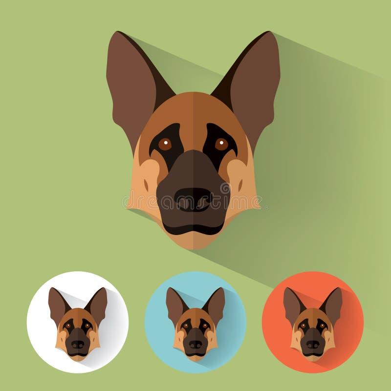 Zwierzęcy portret ilustracji