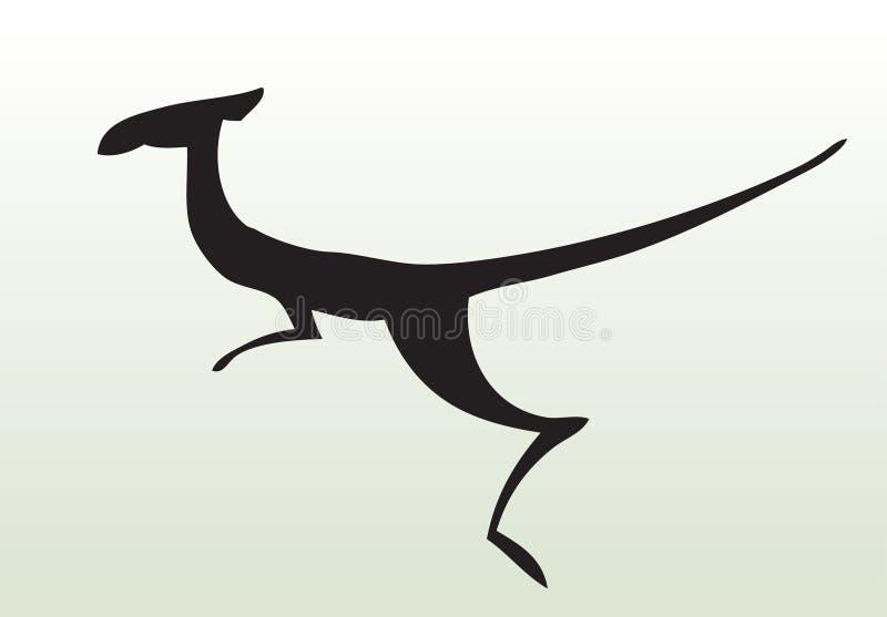 zwierzęcy remis ręki kangur ilustracji