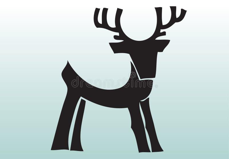 zwierzęcy rogacze rysująca ręka royalty ilustracja