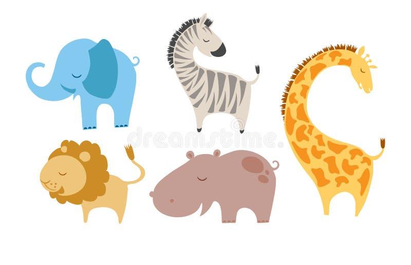zwierzęta śliczni royalty ilustracja