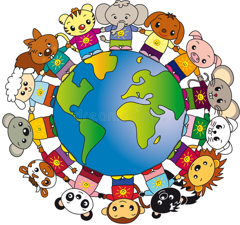 zwierzęta światowi royalty ilustracja
