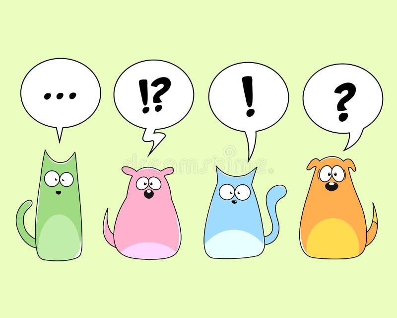 zwierzęta domowe royalty ilustracja