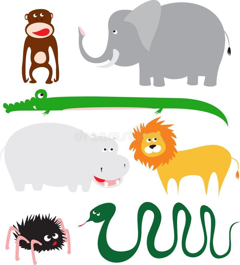zwierzęta dzicy ilustracja wektor