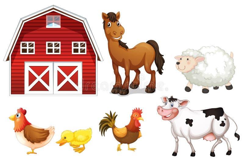 Zwierzęta gospodarskie ilustracji