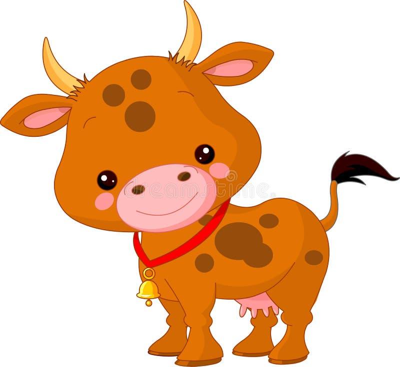 Zwierzęta gospodarskie. Krowa ilustracja wektor