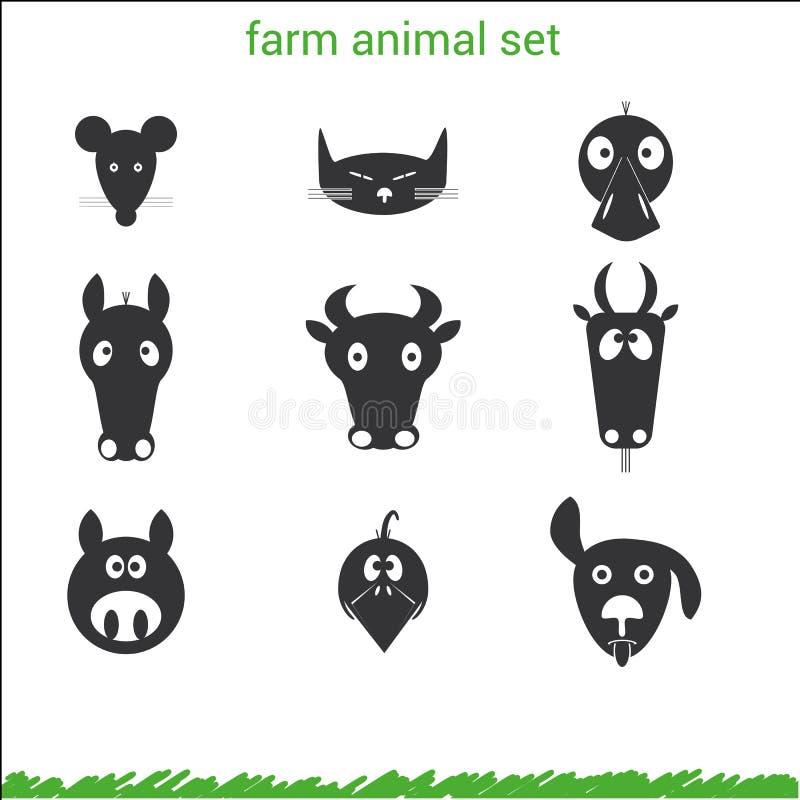 Zwierzęta gospodarskie set obraz royalty free