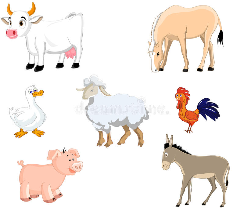 Zwierzęta gospodarskie set ilustracji