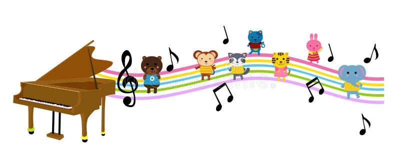 Zwierzęta i muzyka ilustracji