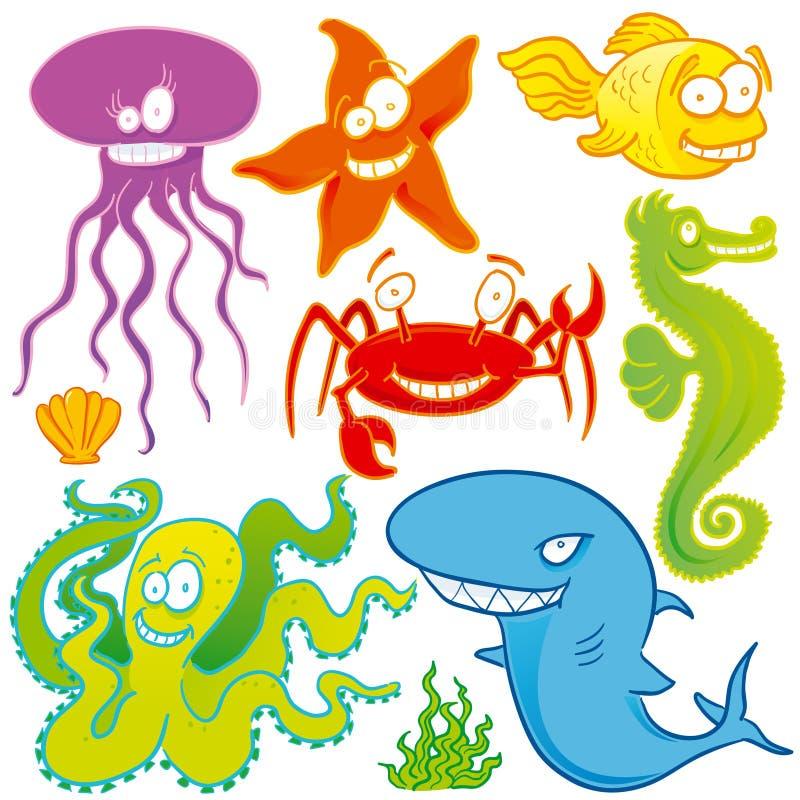 zwierzęta morskie ilustracja wektor