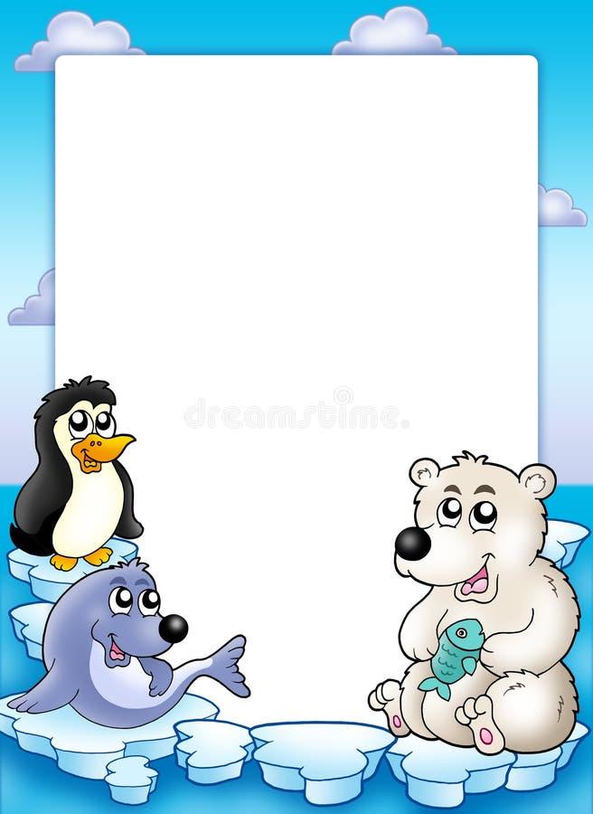 zwierzęta obramiają zima royalty ilustracja