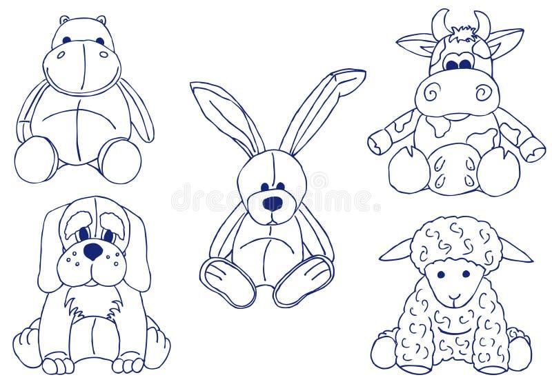 zwierzęta pluszowi ilustracja wektor