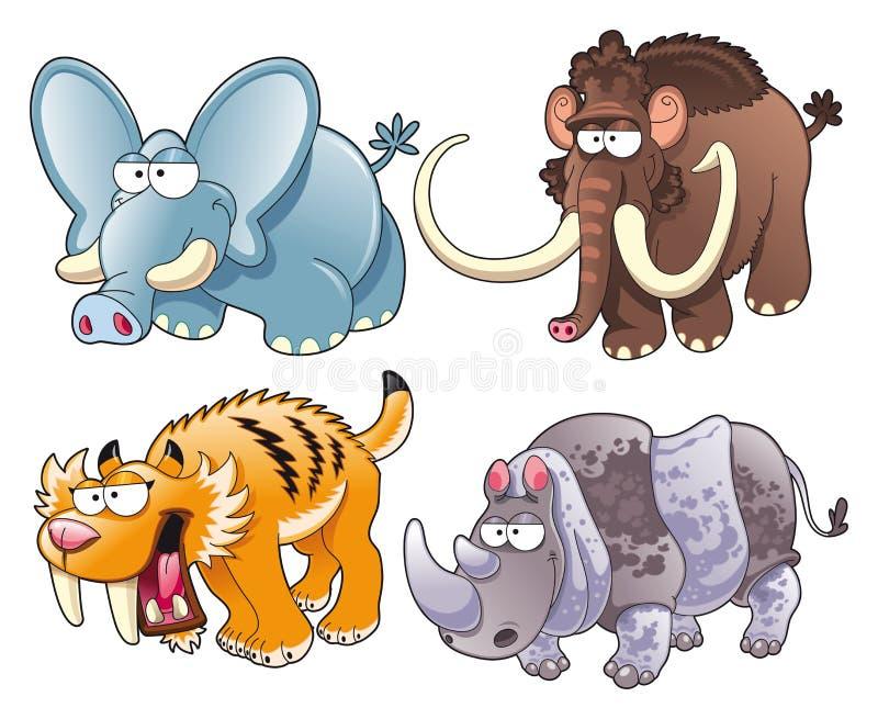 zwierzęta prehistoryczni ilustracja wektor