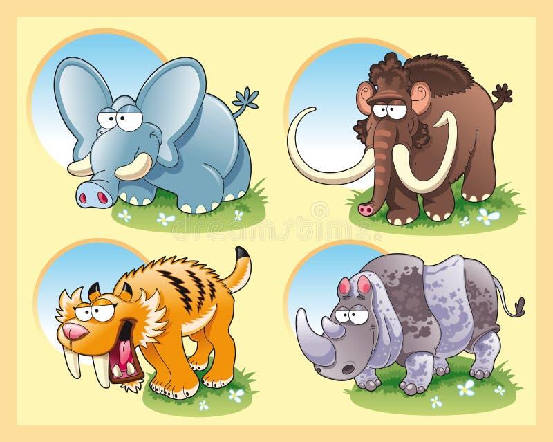 zwierzęta prehistoryczni royalty ilustracja