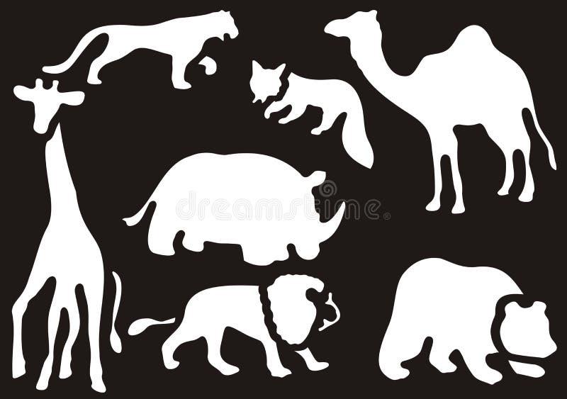 zwierzęta ustawiają dzikiego ilustracji